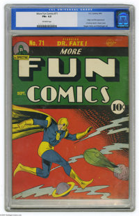 More Fun Comics #71 (DC, 1941) CGC FN+ 6.5 Off-white pages. Overstreet and Gerber's The Photo-Journal Guide to Comic Boo...