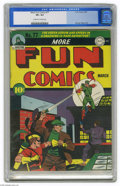 Golden Age (1938-1955):Superhero, More Fun Comics #77 (DC, 1942) CGC VF+ 8.5 Off-white to white pages. Simply sparkling colors on this high-grade copy highlig...