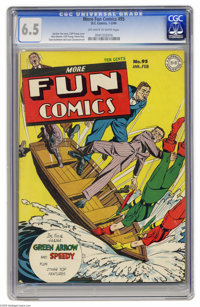 More Fun Comics #95 (DC, 1944) CGC FN+ 6.5 Off-white to white pages. Green Arrow, Doctor Fate, Aquaman, Johnny Quick, th...