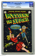 Golden Age (1938-1955):Science Fiction, Mystery in Space #1 (DC, 1951) CGC VF+ 8.5 Off-white to whitepages. DC's second science fiction title debuted in 1951 with ...