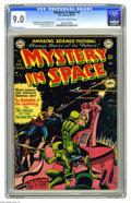 Golden Age (1938-1955):Science Fiction, Mystery in Space #3 (DC, 1951) CGC VF/NM 9.0 Off-white to whitepages. Carmine Infantino had a knack for a 3-D effect on his...
