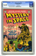 Golden Age (1938-1955):Science Fiction, Mystery in Space #6 (DC, 1952) CGC VG/FN 5.0 Off-white pages. Thiscopy of an early issue of MIS displays nicer than the...