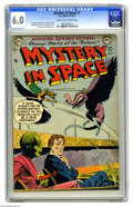 Golden Age (1938-1955):Science Fiction, Mystery in Space #7 (DC, 1952) CGC FN 6.0 Cream to off-white pages.Early issue of the title impresses with a Gil Kane cover...