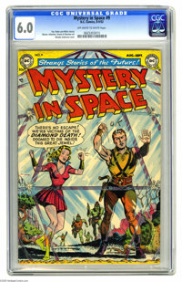 """Mystery in Space #9 (DC, 1952) CGC FN 6.0 Off-white to white pages. Murphy Anderson's covers defined the """"look""""..."""