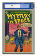 Golden Age (1938-1955):Science Fiction, Mystery in Space #10 Bethlehem pedigree (DC, 1952) CGC VF 8.0Off-white pages. Great alien cover, credited to Murphy Anderso...