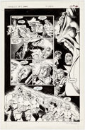 Original Comic Art:Panel Pages, Brian Bolland and Terry Austin Camelot 3000 #9 Story Page 19Original Art (DC, 1983)....