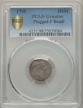 1795 H10C -- Plugged -- PCGS Genuine Secure. Fine Details. NGC Census: (9/295 and 0/5+). PCGS Population: (19/527 and 0/...