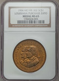 Medals and Tokens, 1904 Louisiana Purchase Expo Official Souvenir Medal, HK-302, MS65 NGC. ...