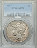 Peace Dollars: , 1935-S $1 AU50 PCGS. PCGS Population: (75/5567). NGC Census: (62/3484). CDN: $80 Whsle. Bid for problem-free NGC/PCGS AU50....