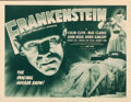 "Movie Posters:Horror, Frankenstein (Universal, R-1947). Half Sheet (22"" ..."