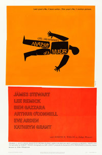 "Anatomy of a Murder (Columbia, 1959). One Sheet (27"" X 41"") Saul Bass Artwork"