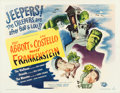 "Movie Posters:Horror, Abbott and Costello Meet Frankenstein (Universal International,1948). Half Sheet (22"" X 28"") Style A.. ..."