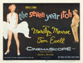 """Movie Posters:Comedy, The Seven Year Itch (20th Century Fox, 1955). Half Sheet (22"""" X 28"""").. ..."""