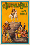 "Movie Posters:Western, The Life of Buffalo Bill (Pawnee Bill Film Co., 1912). One Sheet (27"" X 41"").. ..."