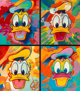 Peter Max (American, b. 1937) Disney Suite: Donald Duck (Group of Four) Screenprint in colors on paper, each 16 x 14...