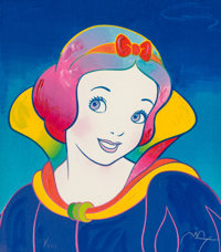 Peter Max (American, b. 1937) Snow White (Blue) Screenprint in colors on paper 15-3/4 x 13-3/4 in