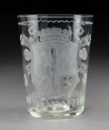Decorative Arts, Continental:Other , A Dutch Etched Coin Glass, late 18th century6 ...