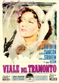 "Movie Posters:Film Noir, Sunset Boulevard (Paramount, 1950). Italian 4 - Fogli (55"" X 78"") Ercole Brini Artwork.. ..."