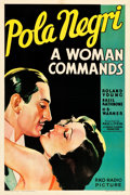 "Movie Posters:Drama, A Woman Commands (RKO, 1932). One Sheet (27"" X 41"") Style A.. ..."