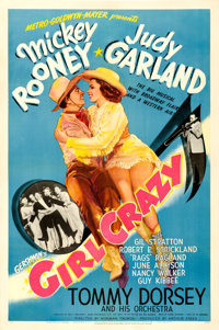 """Girl Crazy (MGM, 1943). One Sheet (27"""" X 41"""") Style D"""