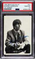 Non-Sport Cards:Singles (Post-1950), 1964 Topps Beatles B&W George Harrison #52 PSA Gem Mint 10 - Pop One! ...