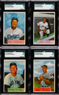 Baseball Cards:Lots, 1952 Through 1955 Baseball Bowman and Topps Collection (95) With1954 Bowman Mantle....