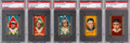 Baseball Cards:Lots, 1911 T205 Gold Borders Baseball Hall of Famers PSA GradedCollection (5)....