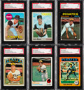 Baseball Cards:Lots, Signed 1969-75 Topps Bob Moose SGC Authentic Collection (6)....