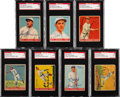 Baseball Cards:Lots, Signed 1933 Goudey Baseball SGC Authentic Collection (7)....