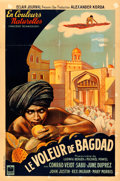 """Movie Posters:Fantasy, The Thief of Bagdad (Eclair Journal, 1946). First Post-War Release French Half Grande (31"""" X 47"""").. ..."""