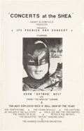 "Music Memorabilia:Memorabilia, ""Concerts at the Shea"" Concert Program Featuring The Young Rascals,Jr. Walker and the All-Stars and Adam West as Batman, June..."