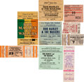 Music Memorabilia:Tickets, Bob Marley and the Wailers Lot of Nine Concert Tickets,1976-1980.... (Total: 9 )