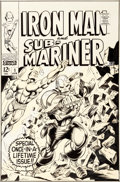 Original Comic Art:Covers, Gene Colan and Bill Everett Iron Man and Sub-Mariner #1Cover Original Art (Marvel, 1968)....