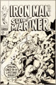 Gene Colan and Bill Everett Iron Man and Sub-Mariner #1 Cover Original Art (Marvel, 1968)