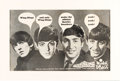 Music Memorabilia:Memorabilia, Beatles Wing-Dings Promotional Poster Picturing the Beatles (US, 1964), in Matted Display. ...