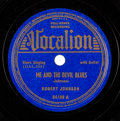 "Music Memorabilia:Recordings, Robert Johnson ""Me And The Devil Blues/ Little Queen Of Spades"" 78 RPM (Vocalion 04108, 1938)...."