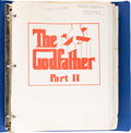 Movie/TV Memorabilia:Memorabilia, The Godfather Part II Script (Paramount, 1974)....
