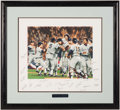 Autographs:Others, 1978 New York Yankees World Series Multi-Signed Limited EditionFramed Print.. ...