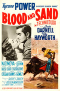 "Movie Posters:Drama, Blood and Sand (20th Century Fox, 1941). One Sheet (27"" X 41"")Style A, Carlos Ruano-Llopis Artwork. Drama.. ..."