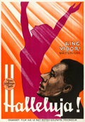 "Movie Posters:Black Films, Hallelujah! (MGM, 1929). Swedish One Sheet (27.5"" ..."