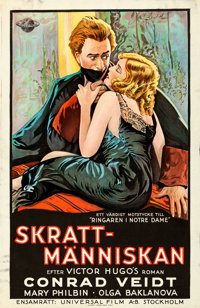 "The Man Who Laughs (Universal, 1928). Swedish One Sheet (25.75"" X 39.5"")"