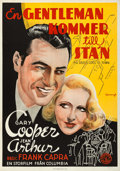 "Movie Posters:Comedy, Mr. Deeds Goes to Town (Columbia, 1936). Swedish One Sheet (27.5"" X39.5"") Eric Rohman Artwork.. ..."