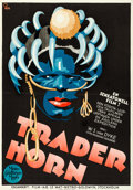 "Movie Posters:Adventure, Trader Horn (MGM, 1931). Swedish One Sheet (27.5"" X 39.5"") Gosta Aberg Artwork.. ..."