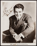 "Movie Posters:Miscellaneous, Paul Muni (Warner Brothers & Vitaphone Pictures, 1930's).Autographed Publicity Portrait Photo (8"" X 10""). Miscellaneous....."