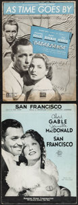 "Movie Posters:Academy Award Winners, Casablanca & Other Lot (Warner Brothers, 1942). Sheet Music (2)(Multiple Pages, 9.5"" X 12""). Academy Award Winners.. ... (Total: 2Items)"