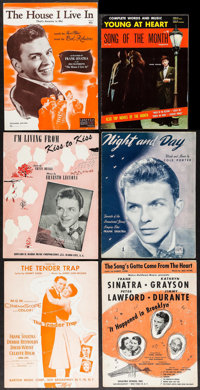 """Frank Sinatra in The House I Live In & Others Lot (RKO, 1945). Sheet Music (5) (Multiple Pages, 9"""" X 12"""")..."""