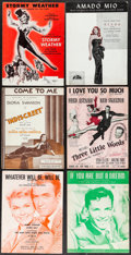 """Movie Posters:Musical, Stormy Weather & Others Lot (20th Century Fox, 1943). SheetMusic (6) (Multiple Pages, Approximately 9"""" X 12""""). Musical.. ...(Total: 6 Items)"""