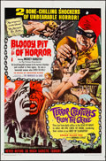 "Movie Posters:Horror, Bloody Pit of Horror/Terror-Creatures from the Grave Combo(Pacemaker, 1967). One Sheet (27"" X 41""). Horror.. ..."