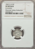 Seated Half Dimes, 1863-S H10C -- Cleaned -- Details NGC. XF. NGC Census: (2/88). PCGS Population: (7/97). CDN: $200 Whsle. Bid for problem-fr...