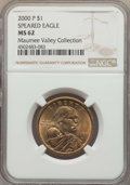Sacagawea Dollars, 2000-P $1 Wounded Eagle MS62 NGC. PCGS Population: (1/4). . From The Maumee Valley Collection....